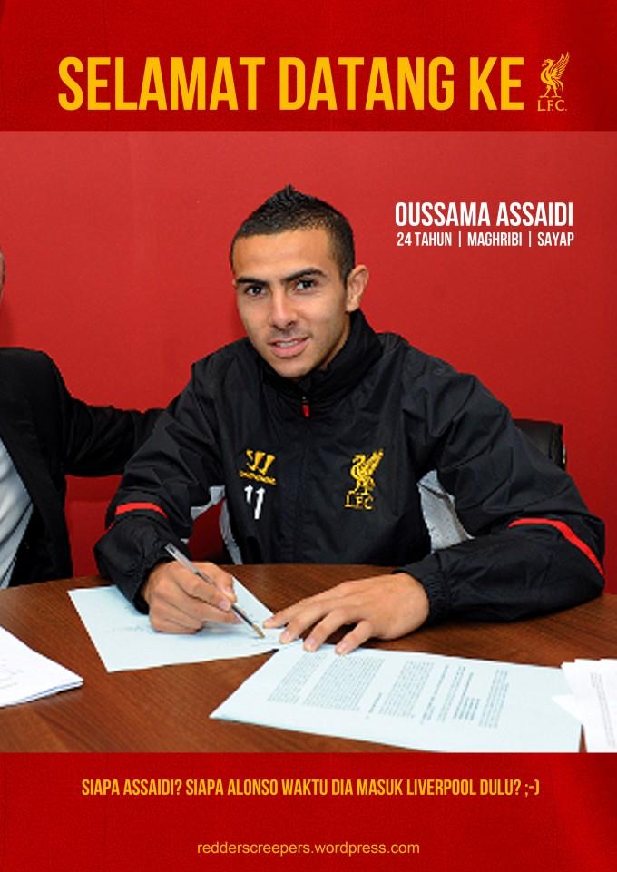 Gambar Oussama Assaidi Pemain Baru Liverpool