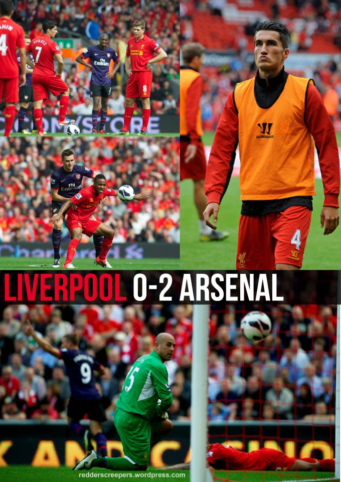 Cover Report Liverpool 0-2 Arsenal