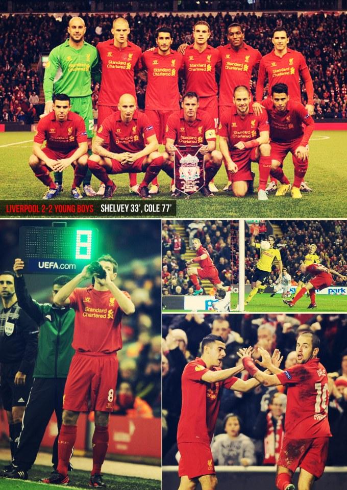 Muka Depan Ulasan Liverpool 2-2 young Boys
