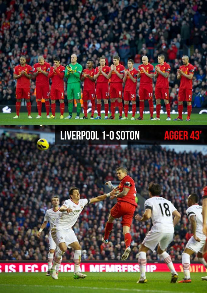 Muka Depan Ulasan Liverpool 1-0 Soton