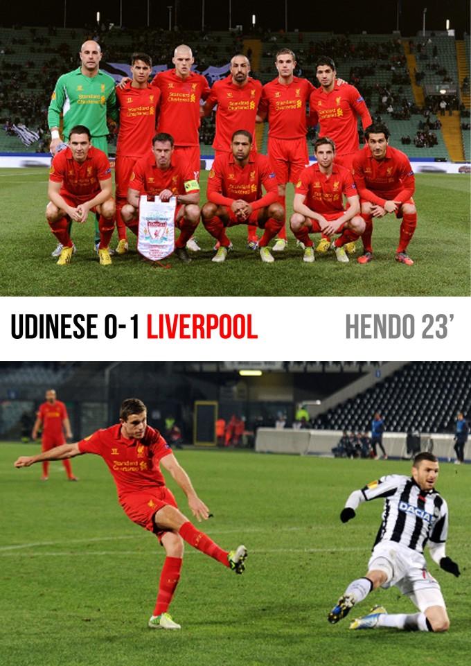 Muka Depan Ulasan Udinese 0-1 Liverpool