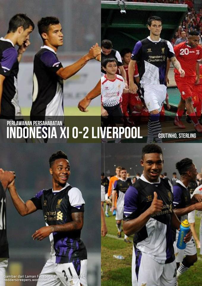 Muka Depan Laporan Perlawanan Indonesia 0-2 Liverpool