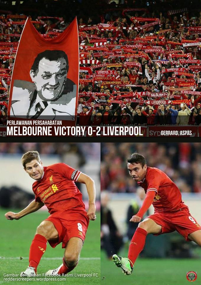 Muka Depan Laporan Perlawanan Melbourne 0-2 Liverpool