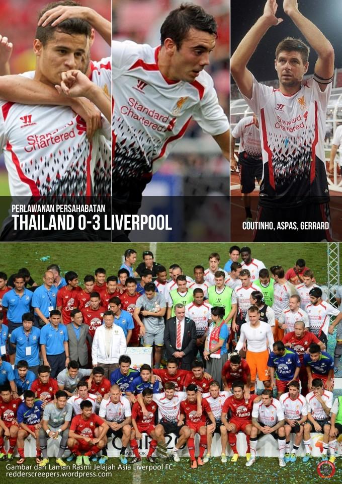 Muka Depan Laporan Perlawanan Thailand 0-3 Liverpool