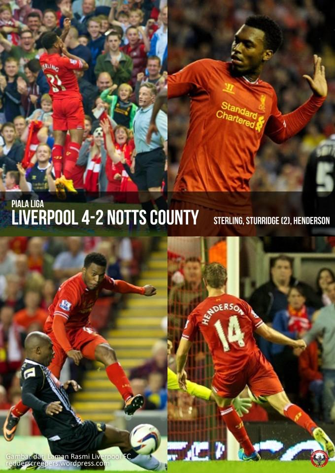 Muka Depan Laporan Perlawanan Liverpool 4-2 Notts