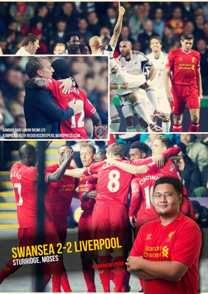 Ulasan Perlawanan Swansea 2-2 Liverpool