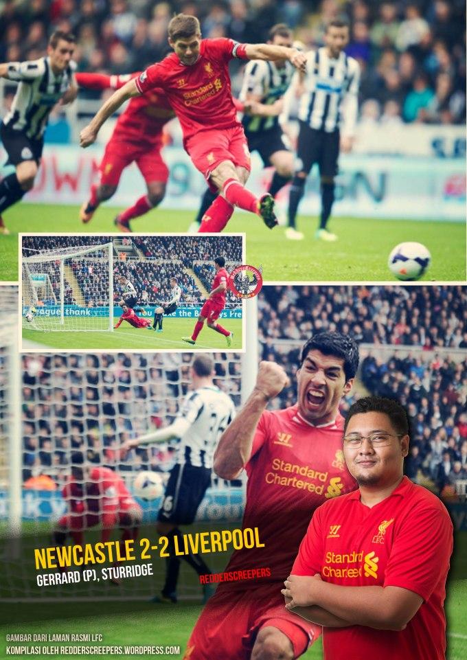 Muka Depan Ulasan Newcastle 2-2 Liverpool